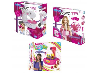 Bild zu Kinder Mode Designer Set Nähmaschine Fashion Tasche + gratis Weavy Loops Maschine