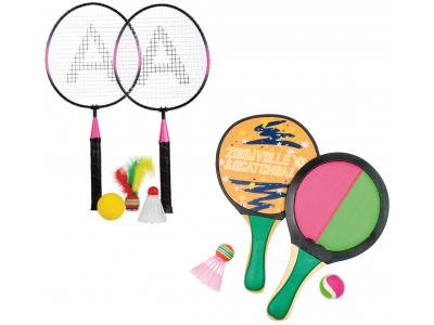 Bild zu Beach Ball Set Badminton Beachball Klettball Soft Tennis 5 Bälle