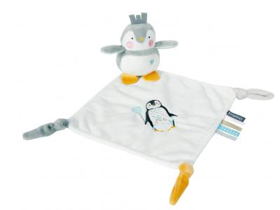 Bild zu Tiamo Schnuffeltuch Lou-Lou Pinguin Let them be little grau mint