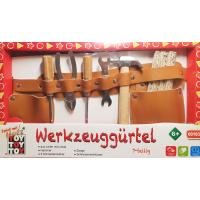 Kinder Werkzeuggürtel aus Leder mit echtem Werkzeug 7 tlg NEU 230279