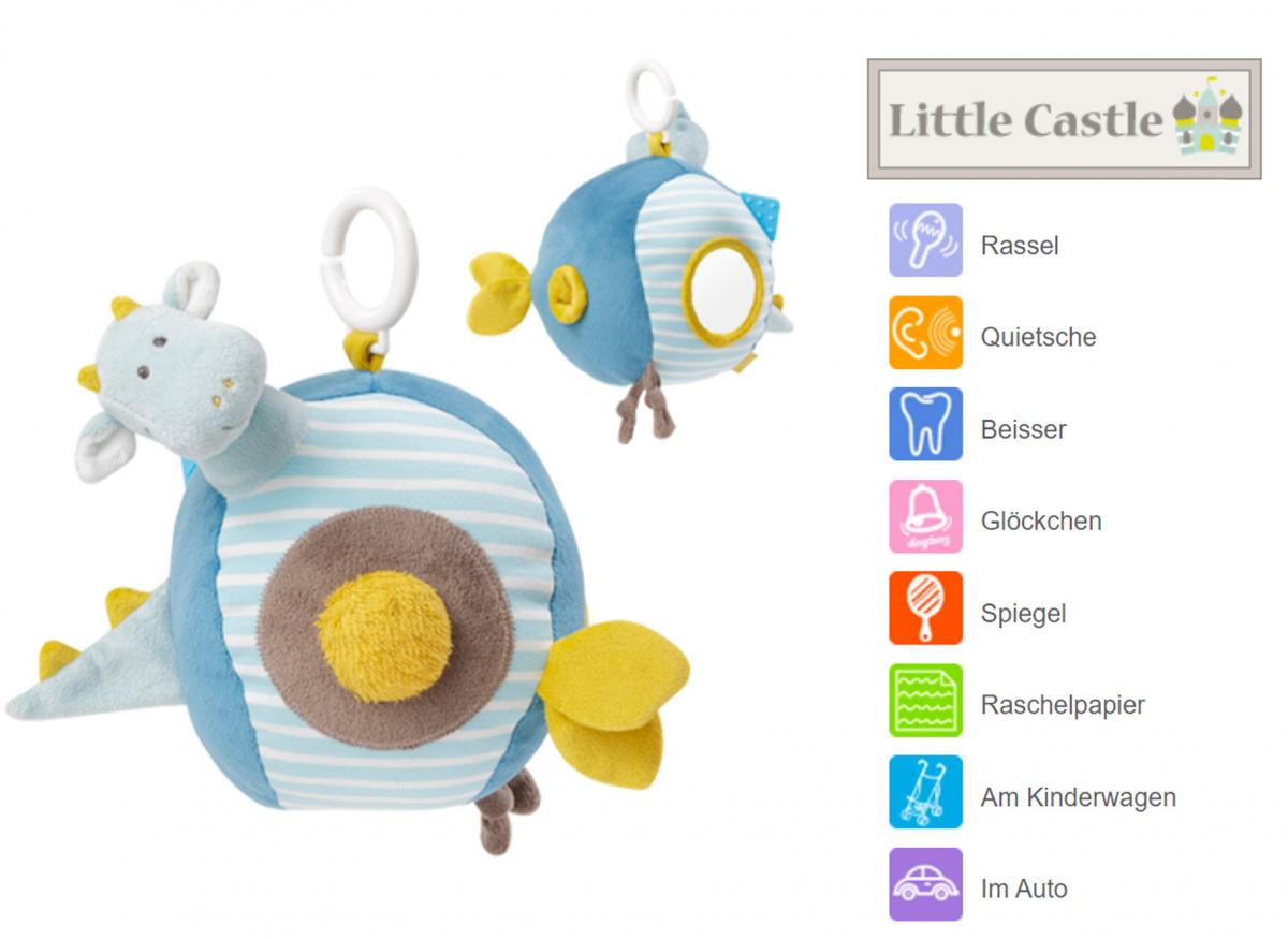 Tiamo Hase Miffy Babyball mint Ball aus Nickipl/üsch mit Gl/öckchen