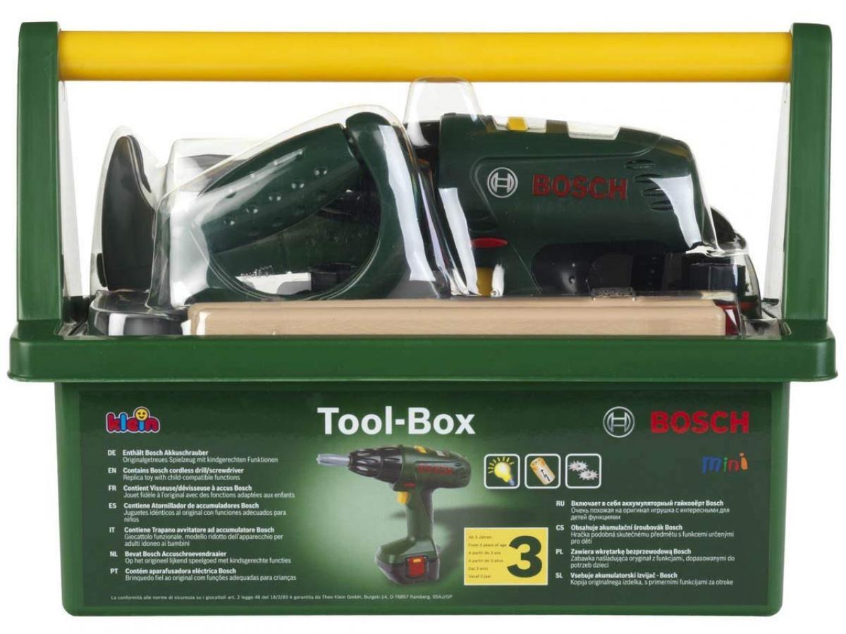 preissturz » bosch mini tool-box werkzeugkoffer mit akkuschrauber
