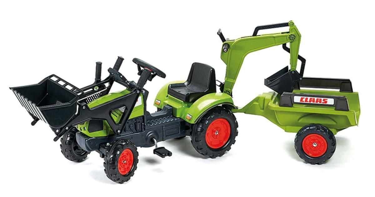 preissturz » falk traktor trettraktor claas mit anhänger