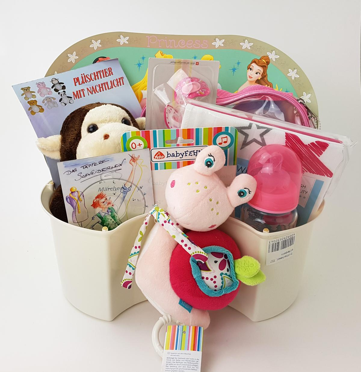 preissturz baby geschenkkorb m dchen geschenk f r geburt oder taufe pink gutes g nstiger. Black Bedroom Furniture Sets. Home Design Ideas