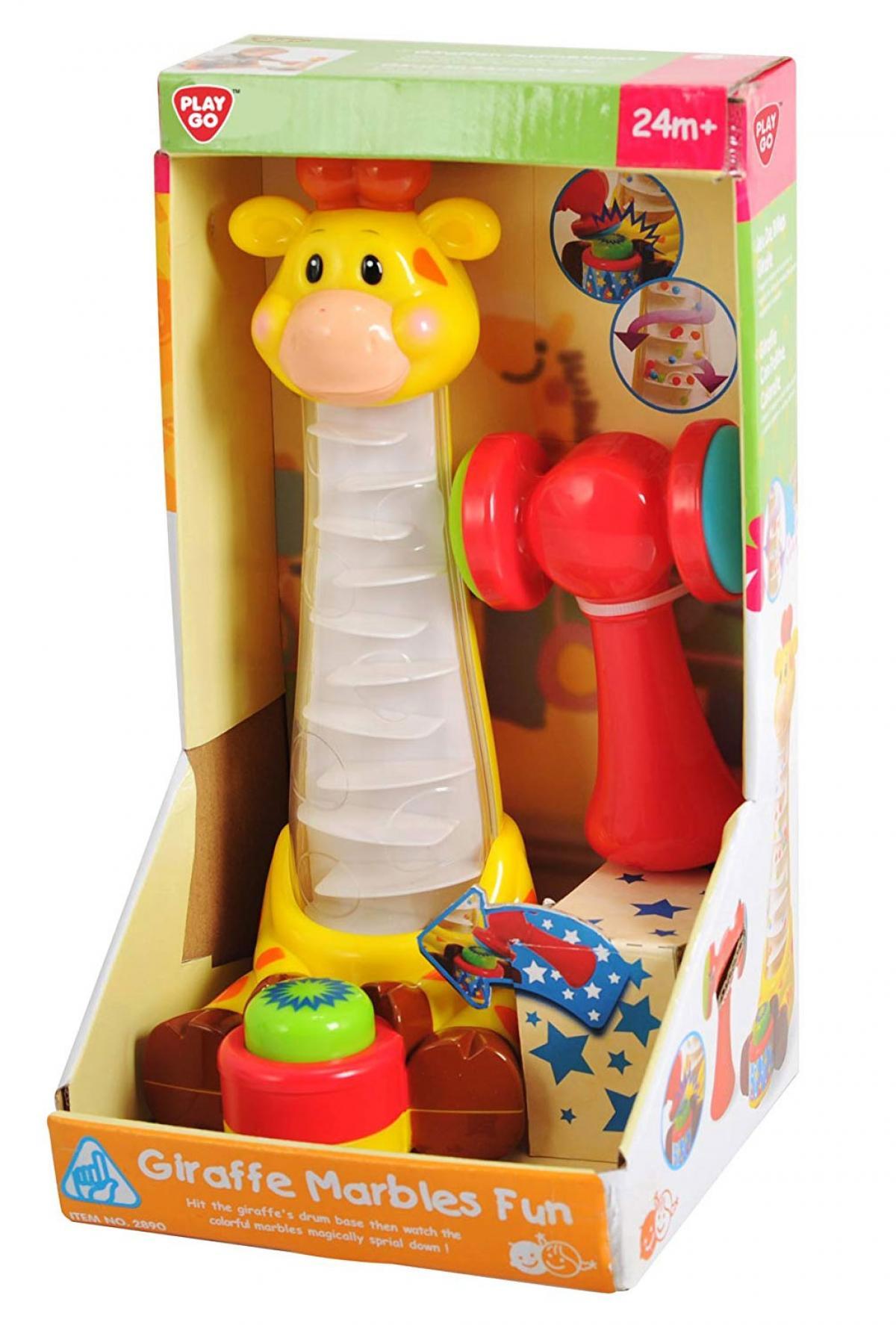 PlayGo Giraffen Murmelspa/ß Murmelbahn Hammerspiel ab 24 Monate