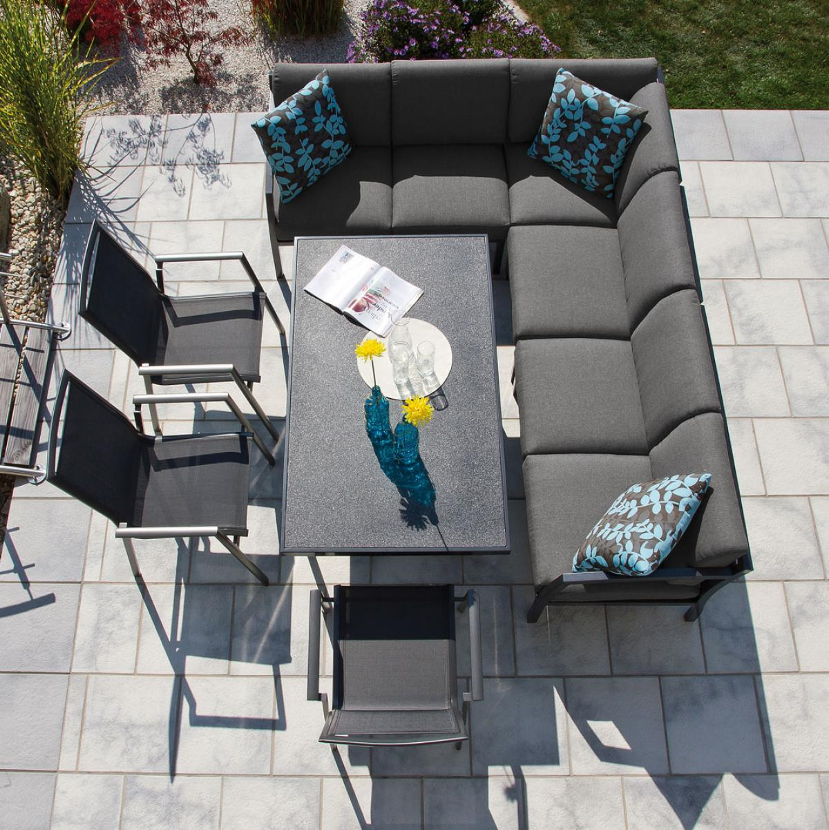 preissturz aluminium garten sitzgruppe essgruppe mit. Black Bedroom Furniture Sets. Home Design Ideas