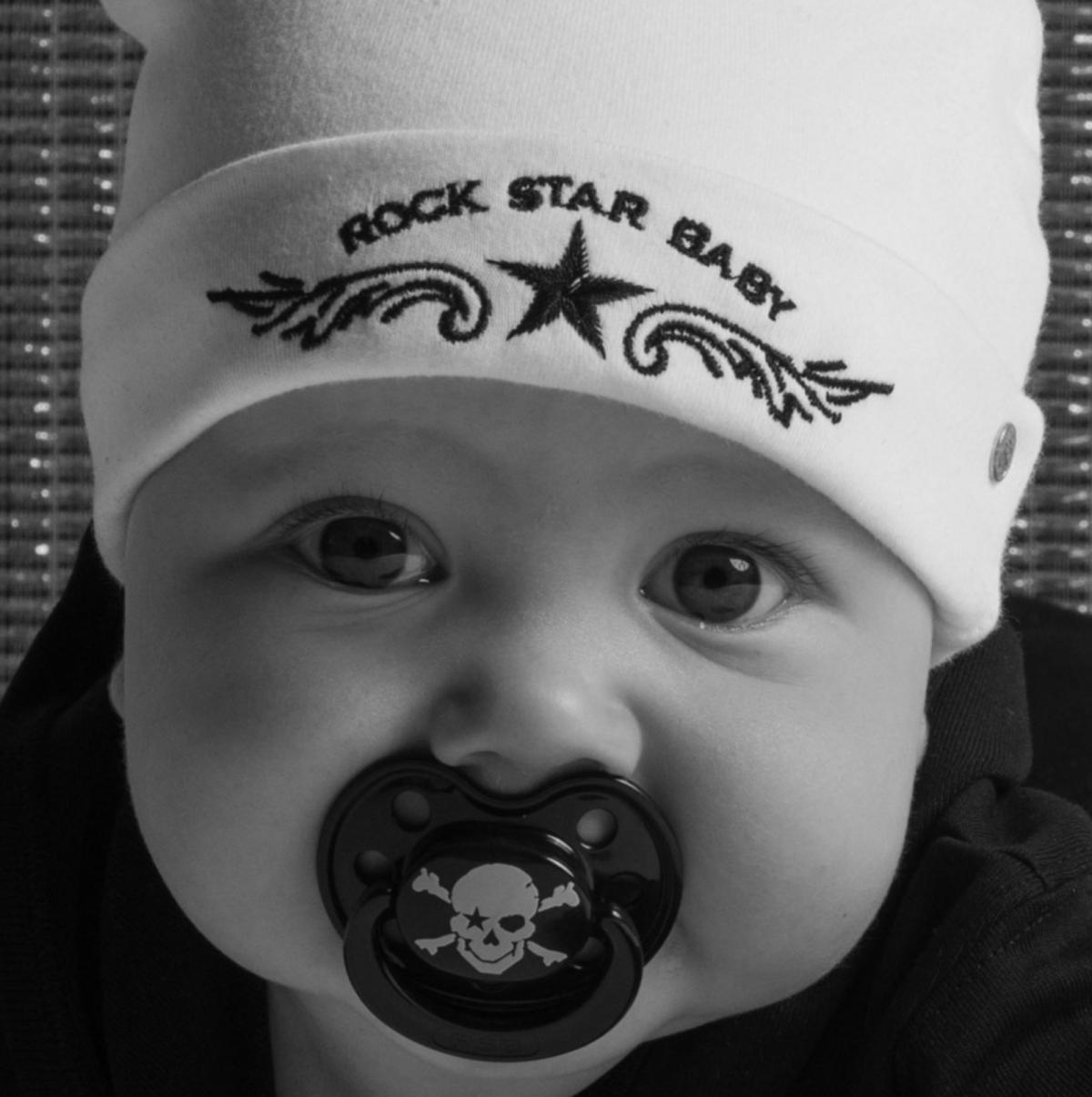 Rock Star Baby 2 Stk Strohhalmbecher Trinkbecher 340 ml Pirat
