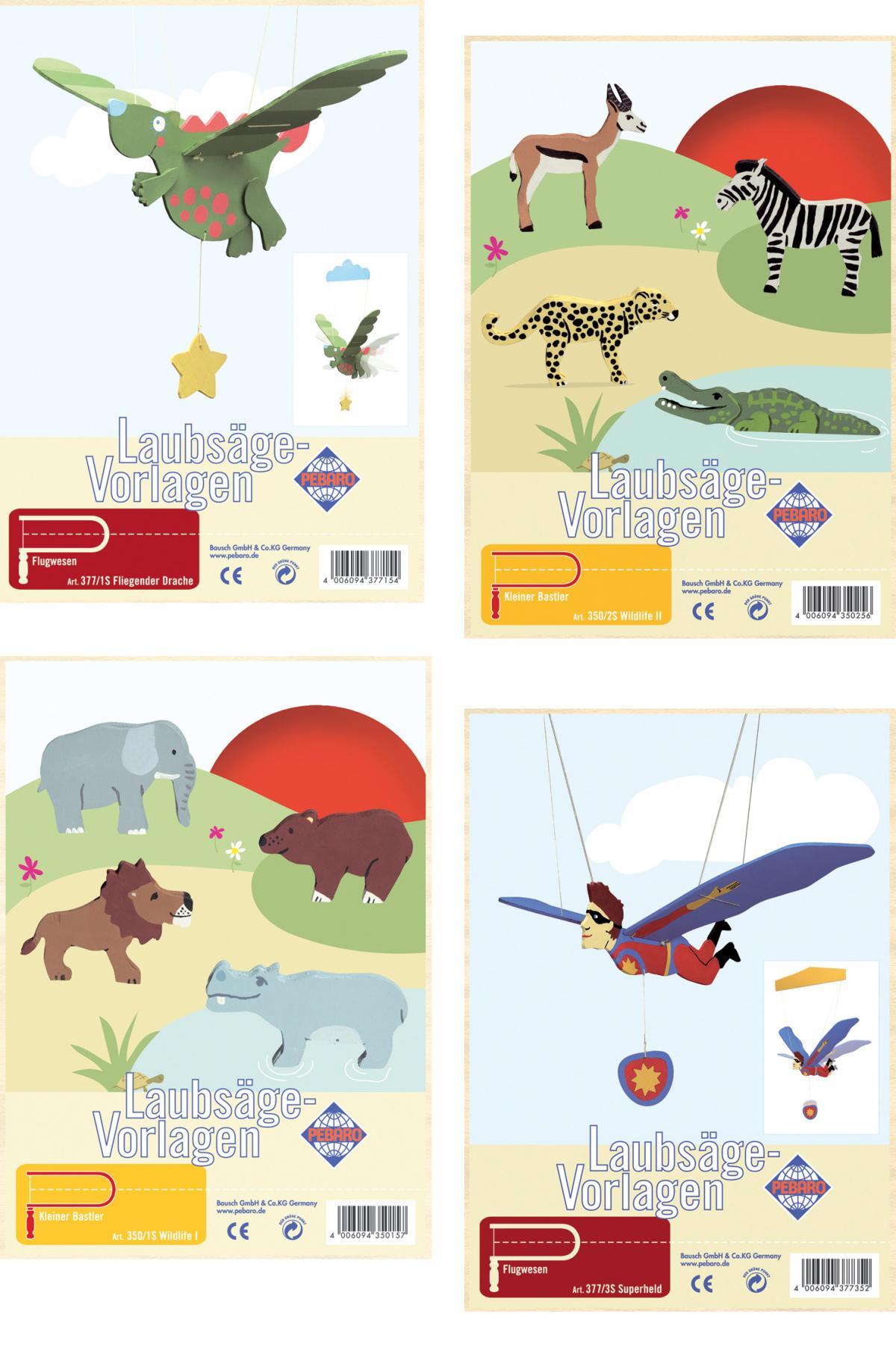 PEBARO Laubsägevorlage Mobilé Tiere