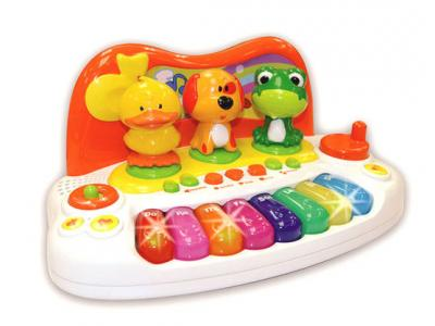 Bild zu Kinder Baby Keyboard Animal Piano mit Tierstimmen Licht Sounds