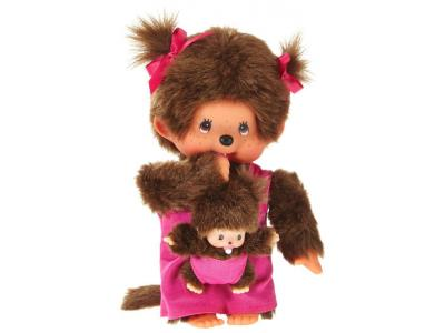 Bild zu Monchhichi Monchichi Puppe Girl Mutter mit Baby in rosa