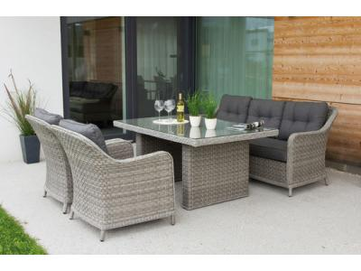 Bild zu Edle Design Rattan Sitzgruppe in and out Lounge Pelago bis 5 Personen