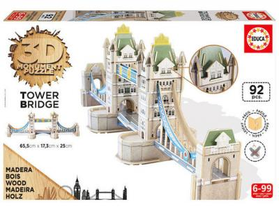 Bild zu Educa 3D Puzzle Monument  aus Holz Tower Bridge London 92 tlg