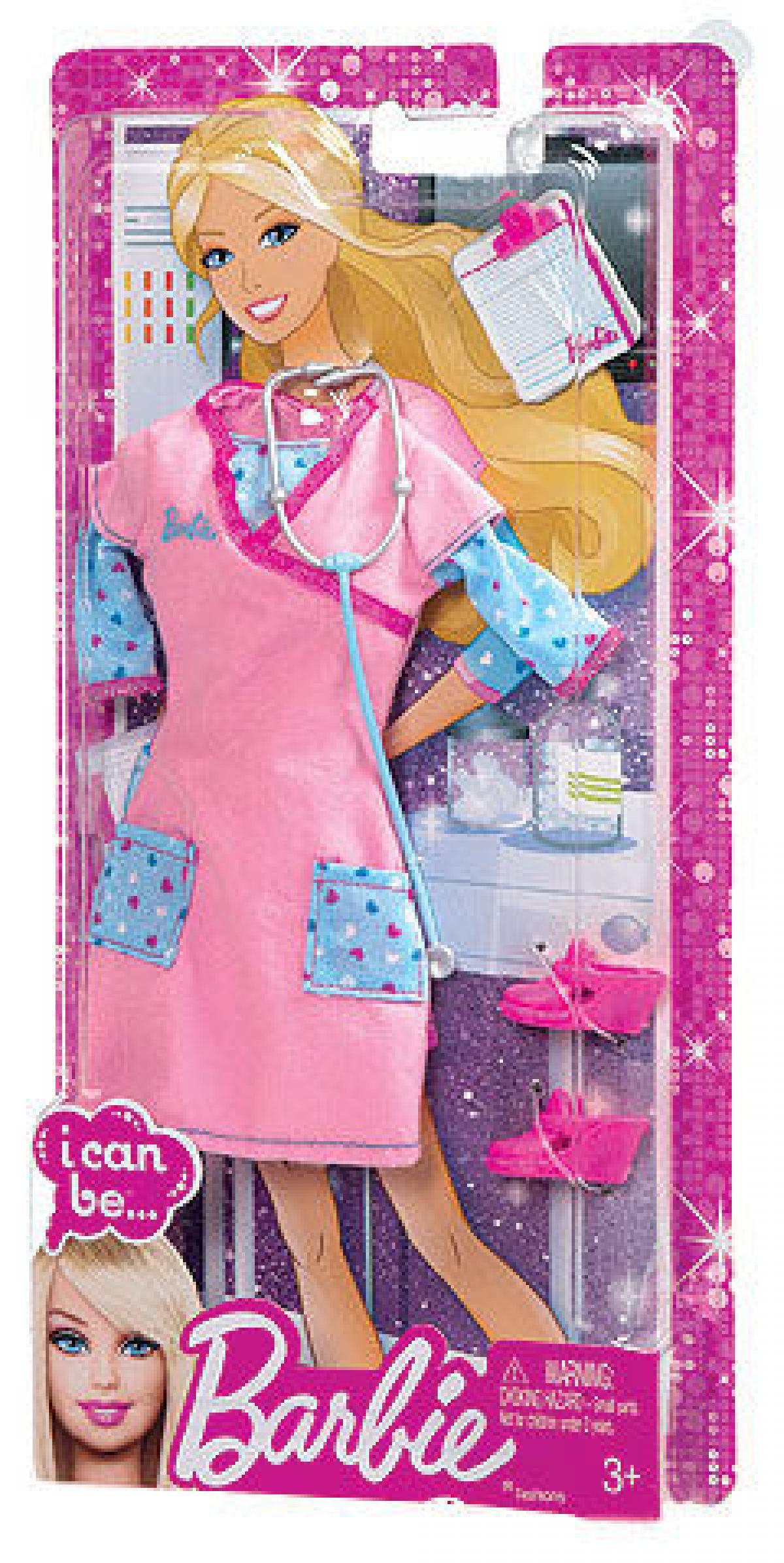 preissturz barbie set ich w r gern mode krankenschwester kleidung gratis barbie puppe. Black Bedroom Furniture Sets. Home Design Ideas