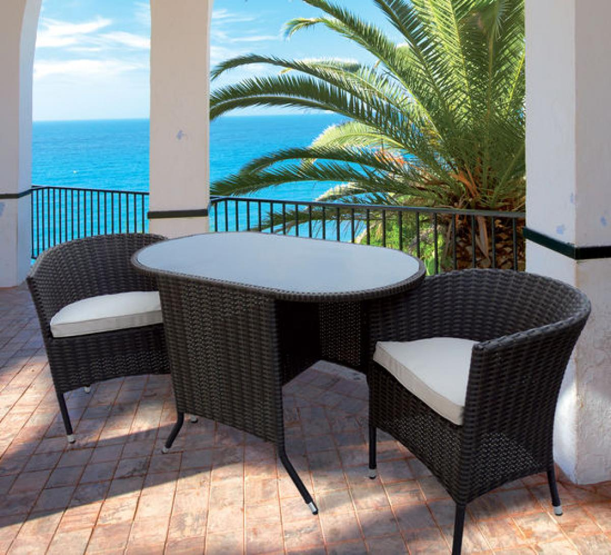 preissturz rattan garnitur sitzgruppe elena f r balkon. Black Bedroom Furniture Sets. Home Design Ideas
