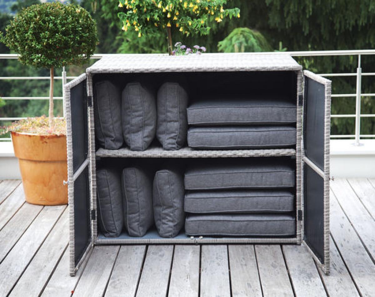 Preissturz » Rattan Gartengarnitur Lounge AVOLA 7 tlg mit