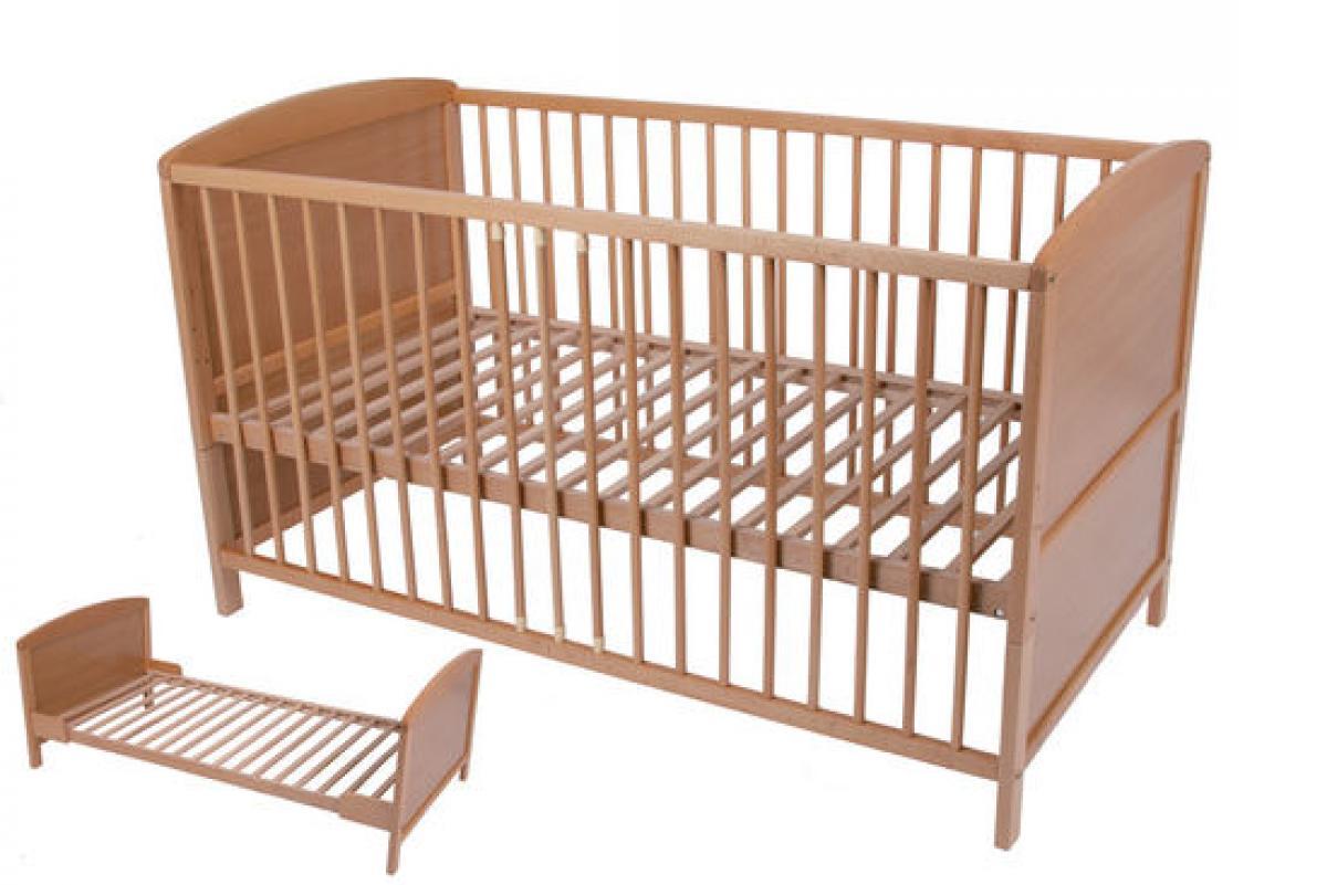 preissturz umbau babybett kinderbett gitterbett buche natur 140x70 gutes g nstiger. Black Bedroom Furniture Sets. Home Design Ideas