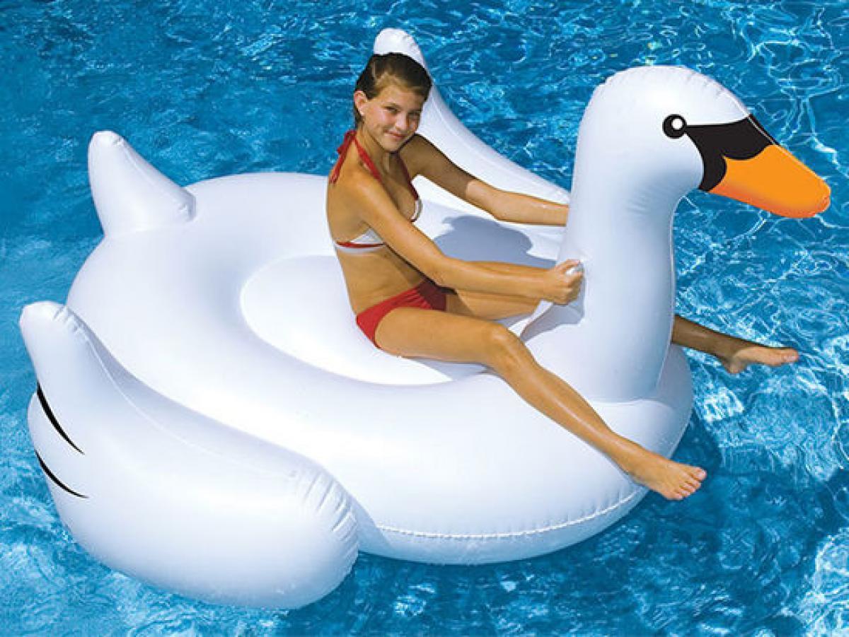 preissturz intex schwan riesige badeinsel schwimmtier luftmatratze 194 cm gutes g nstiger. Black Bedroom Furniture Sets. Home Design Ideas