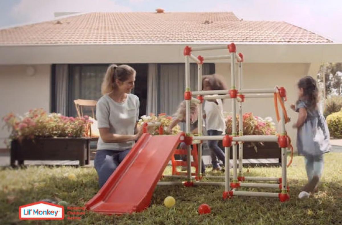 Lil Monkey Klettergerüst : Preissturz klettergerüst spielturm mit rutsche climb slide lil