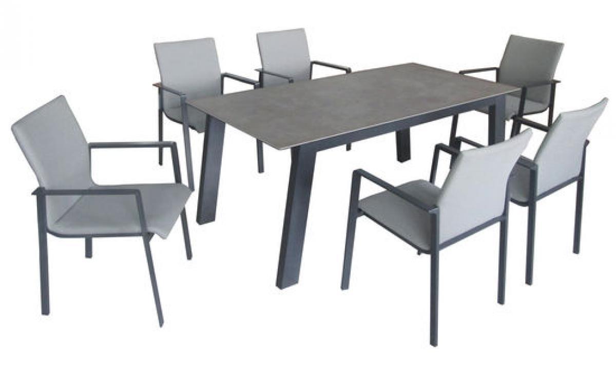 preissturz essgruppe garten sitzgruppe 6 alu st hle. Black Bedroom Furniture Sets. Home Design Ideas