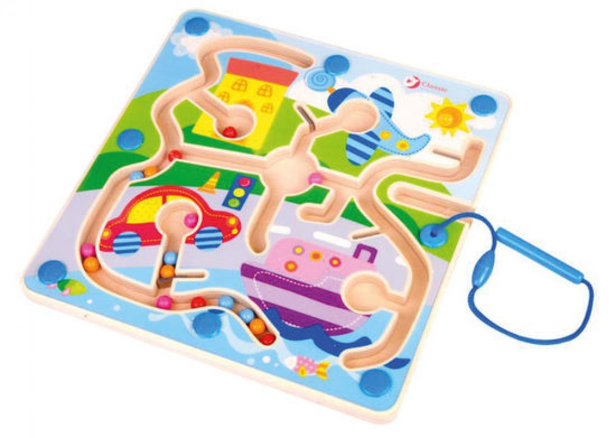 preissturz classic toys magnetisches labyrinth aus holz stadt ab 18 monate gutes g nstiger. Black Bedroom Furniture Sets. Home Design Ideas
