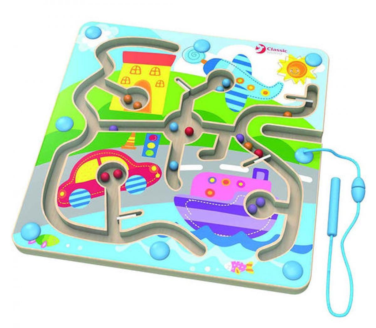 preissturz classic toys magnetisches labyrinth aus holz. Black Bedroom Furniture Sets. Home Design Ideas